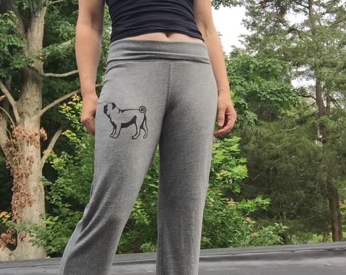 cute as a button Pug Pants, Yoga Pants, Lounge Pants, Comfy Pants, Pug Gift, Pajama Pants, Lightweight Pants