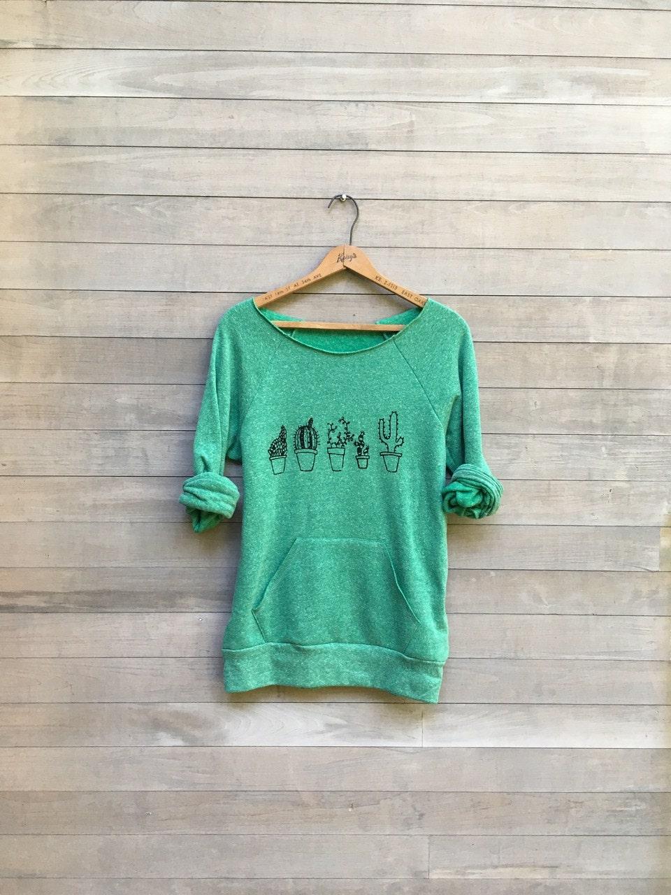 2c02bf190d776 not so needy Cactus Sweatshirt, Cactus Shirt, Plant Lady, Gift for Mom,  Plant Mom, Yoga Top, Green Sweater, Gym Sweatshirt
