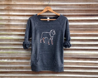 all bark and no bite Rottweiler Sweatshirt, Dog Sweater, Big Dog, Dog Owner, Dog Walker, Cozy Sweatshirt