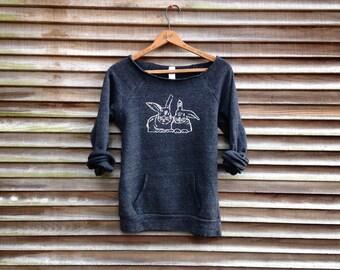 Bestie bunnies Sweatshirt, Rabbit Shirt, Bunny Sweater, Rabbit Gift, Bestie Gift, Girlfriend Gift, XS-2XL