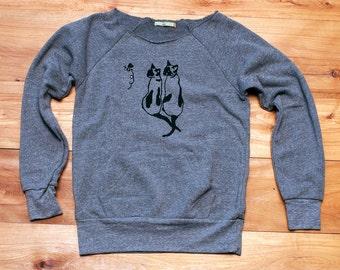 two peas in a pod Siamese Cat Sweatshirt, Cat Sweater, Cat Shirt, S,M,L,XL,XXL