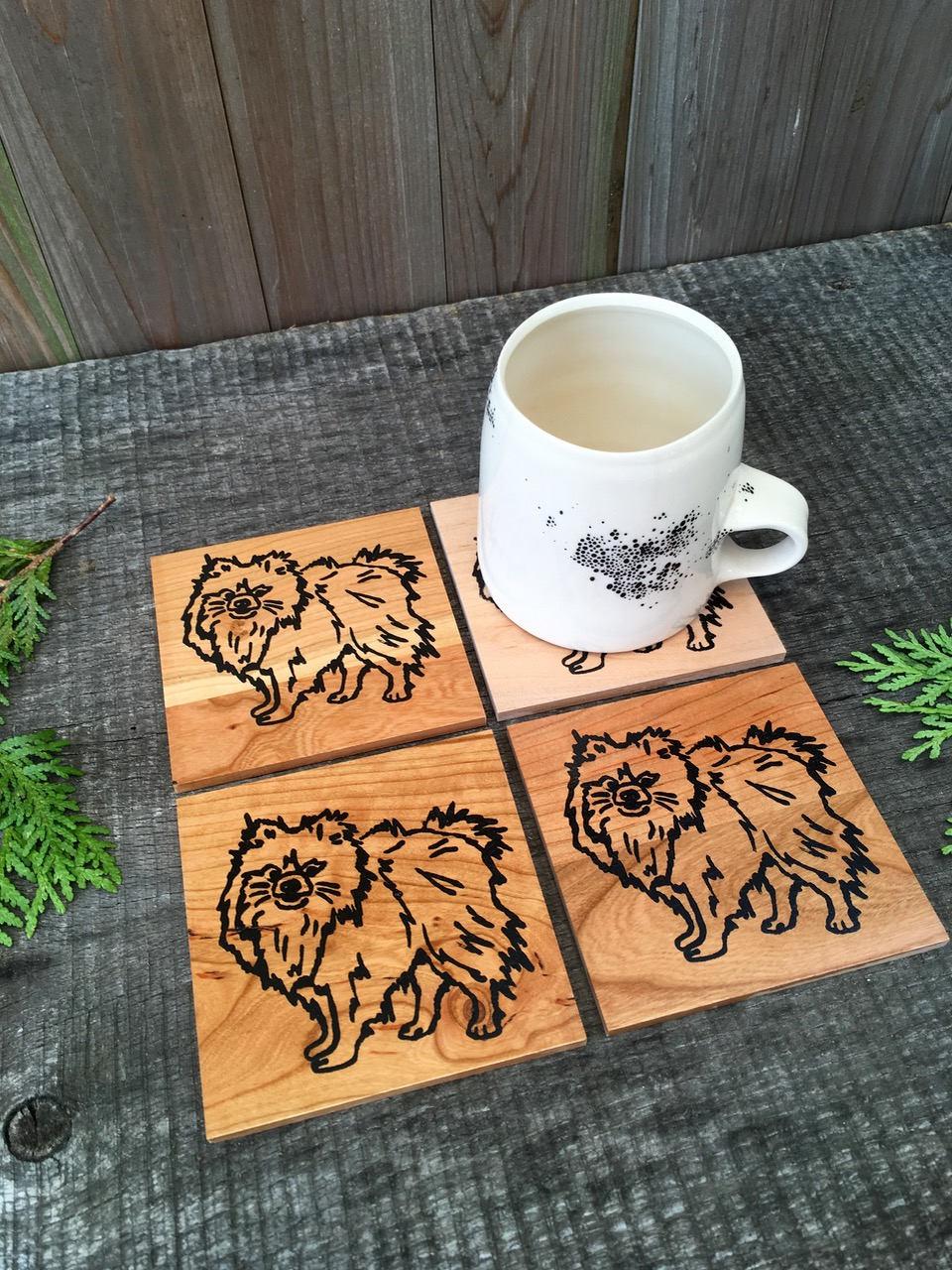 Pomeranian Coasters Pom Gift Pomeranian Lover Pomeranian Gift