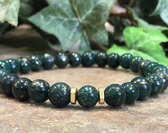intelligence wisdom forest fertility stealth Fox bracelet in black clever suppleness