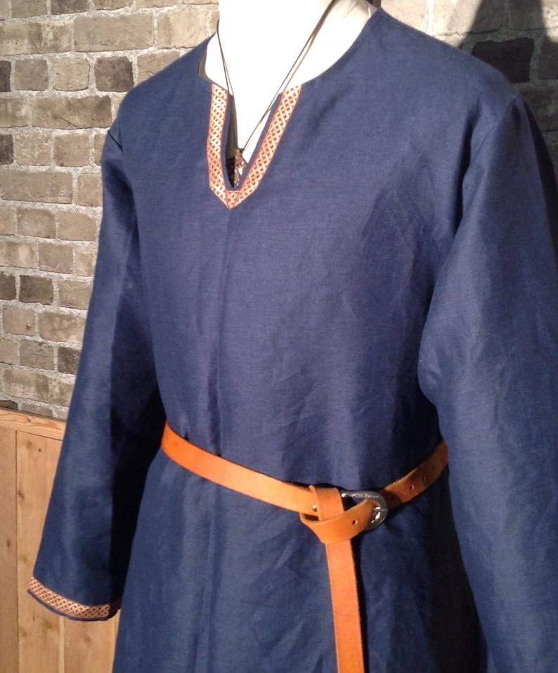 Viking Age linen Birka-style historical tunic 4XL