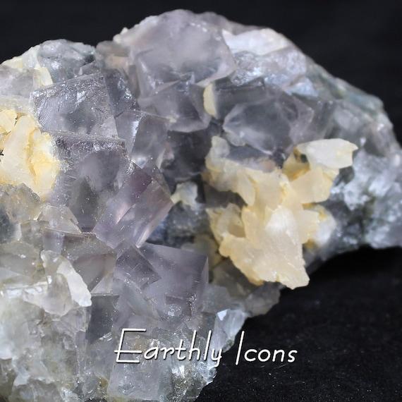 Yaogangxian Purple Fluorite Cluster (490g) Specimen; Raw Mineral Specimen