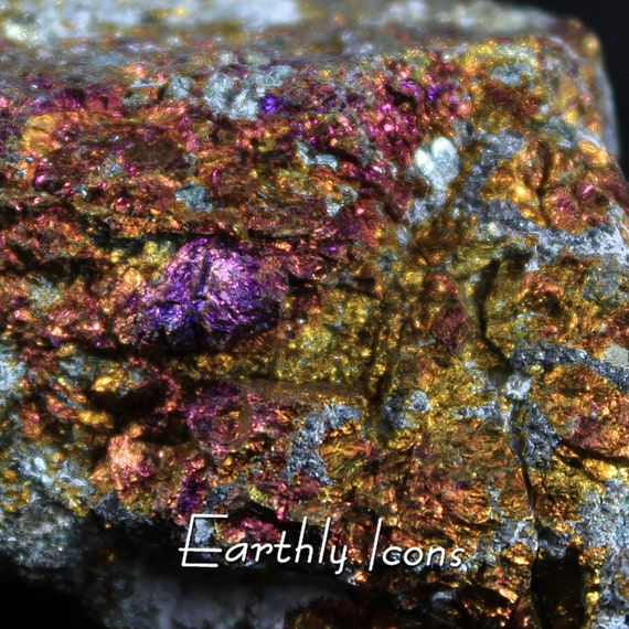 Iridescent Chalcopyrite (Bornite) Mineral Specimen