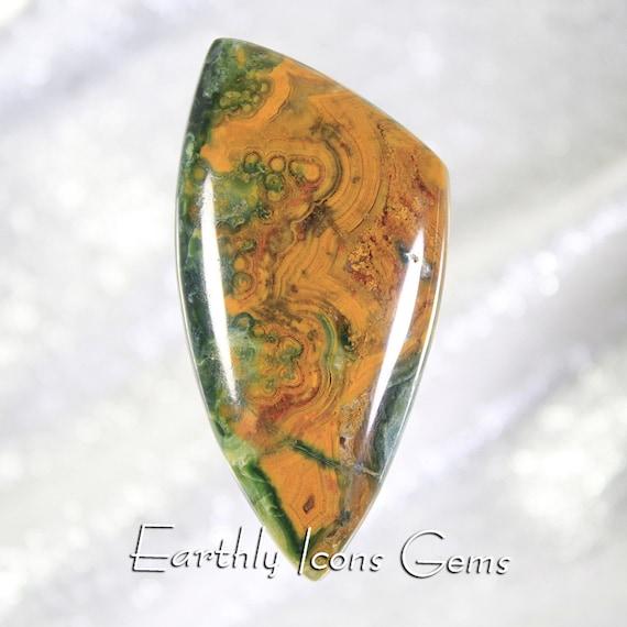 Large Rare Orpheus Agate Designer Cut Cabochon, Designer Cabochons