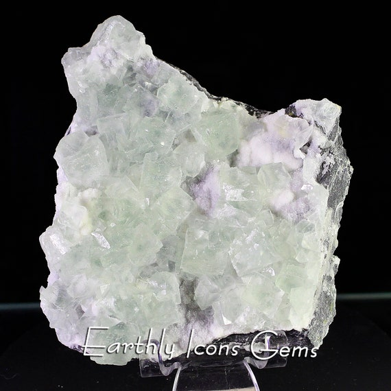 Minty Green Fluorite Mineral Specimen Cluster from Hunan Province, China