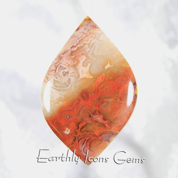 Large Unique Laguna Agate Designer Cut Cabochon
