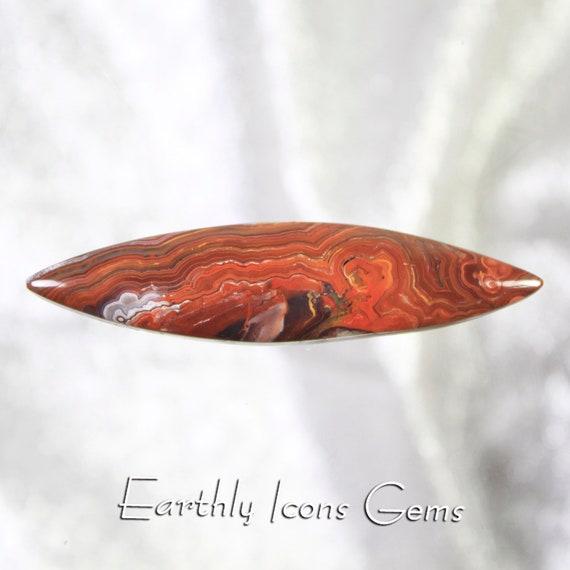 Large Laguna Lace Agate Designer Cut Cabochon