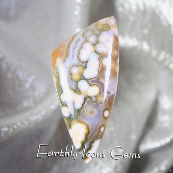Large Unique Ocean Jasper Designer Cut Cabochon