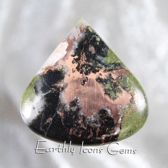 Native Copper Lightning Stone (Pennsylvania) Designer Cut Cabochon