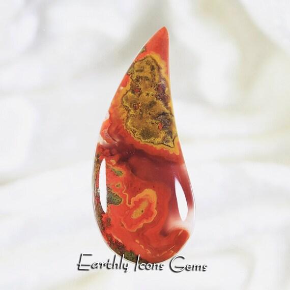 Top Grade Moroccan Seam Agate Designer Cut Cabochon, Designer Cabochons