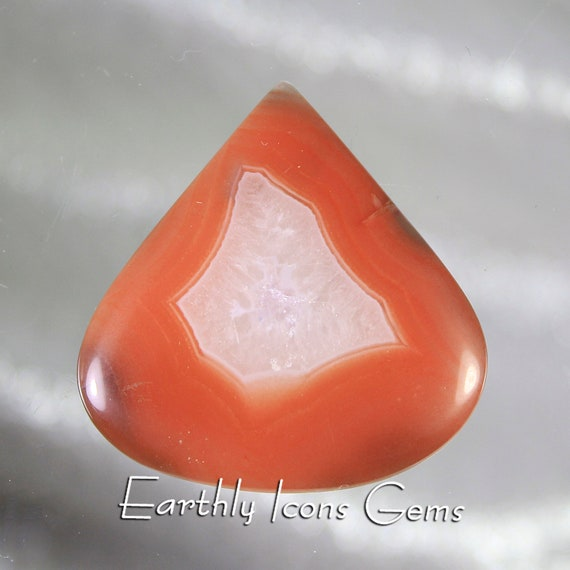 African Red Banded Agate Designer Cut Cabochon