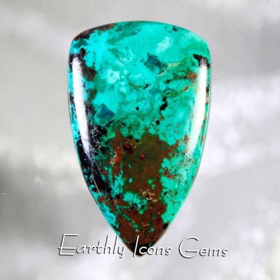Malaquoise (Malachite/Cuprite/Chrysocolla/Copper Ore) Designer Cut Cabochon, Designer Cabochons