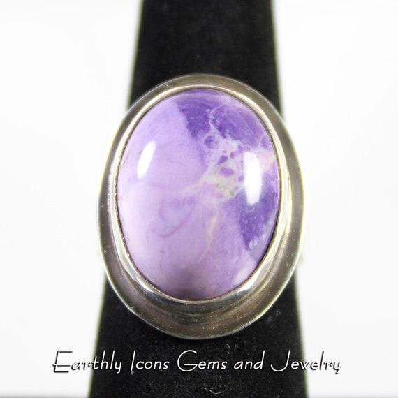 Tiffany Stone / Bertrandite Ring in Sterling Silver, Designer Cabochons