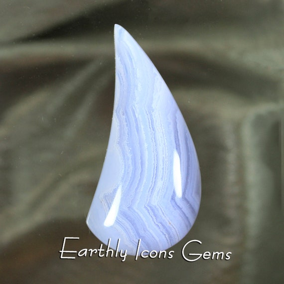 Large Blue Lace Agate Designer Cut Cabachon, Designer Cabochons