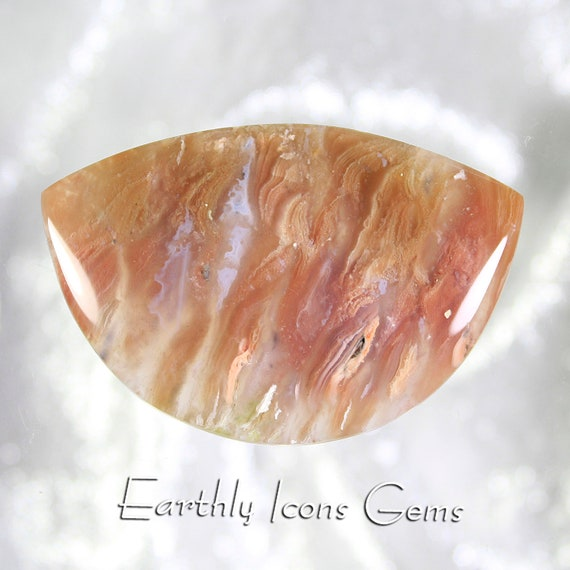 Large Top Grade Nyssa Plume Agate Cabochon