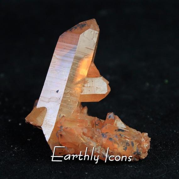Natural Tangerine Quartz Mineral Specimen