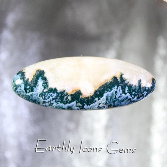 Blue Tide Seam Agate Designer Cut Cabachon