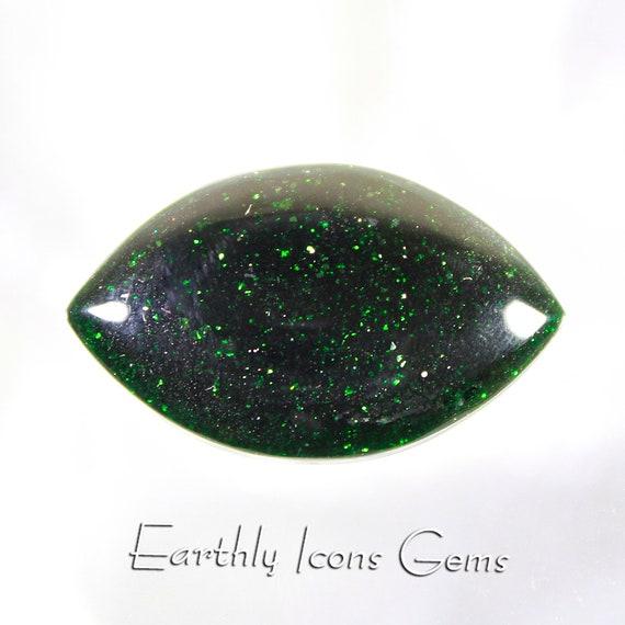 Green Goldstone Designer Cut Cabochon