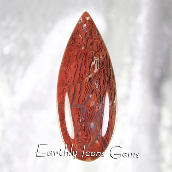 Large Rare Red Howardite Designer Cut Cabochon, Designer Cabochons