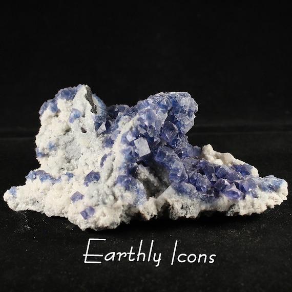 Blue/Purple Fluorite Cluster (747g) Specimen from Fujian, China; Raw Mineral Specimen