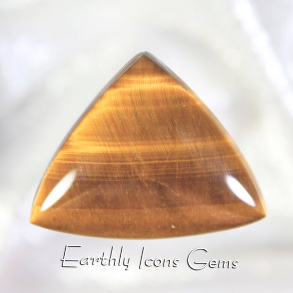 Large Golden Tiger Eye Designer Cut Cabochon