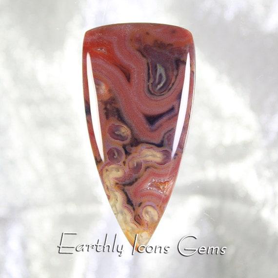 Lace Agate Designer Cut Cabochon; Designer Cabochons
