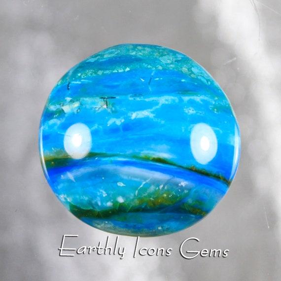 Large Blue Opal Designer Cut Cabochon
