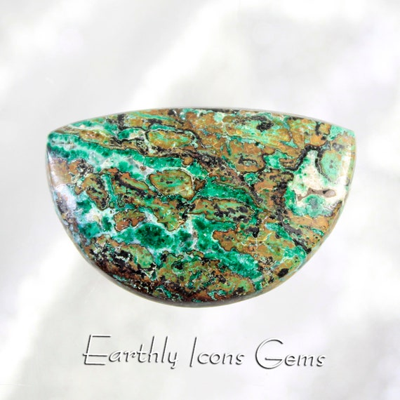 Arizona Copper Ore Minerals with Malachite Designer Cut Cabochon, Designer Cabochons