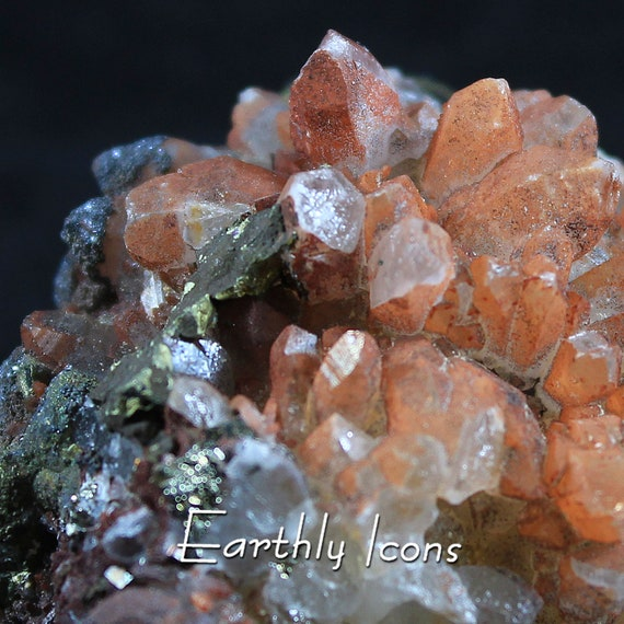 Red Quartz with Pyrite, Chalcopyrite and Specularite from Jiangxi, China; Mineral Display Specimen