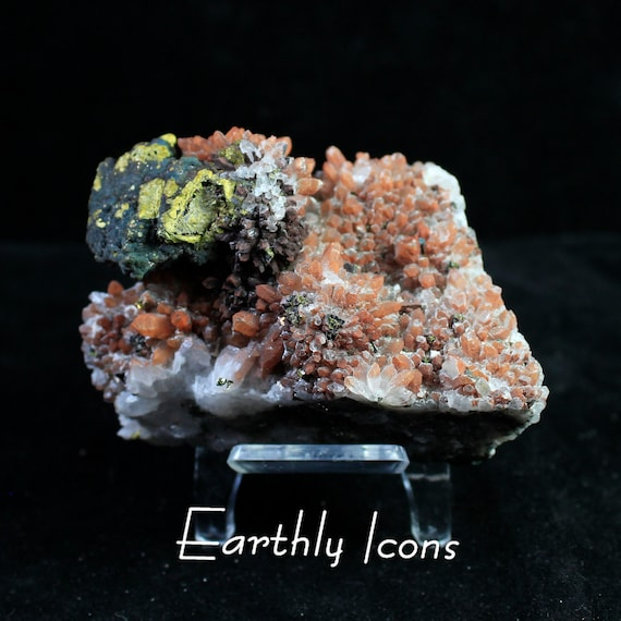 Red Quartz with Pyrite from Jiangxi, China; Mineral Display Specimen
