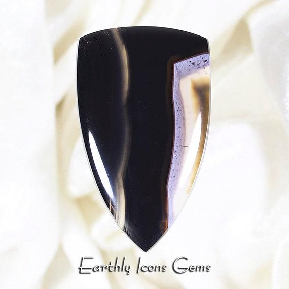 Black and White Agate - Designer Cut Cabochon, Designer Cabochons