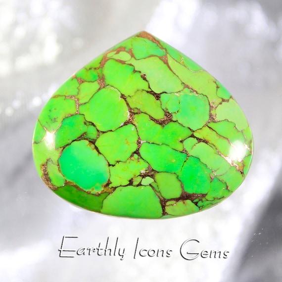 Green Kingman Mohave Turquoise Designer Cut Cabochon