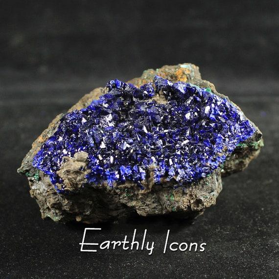 Glittering Azurite Raw Natural Mineral Specimen