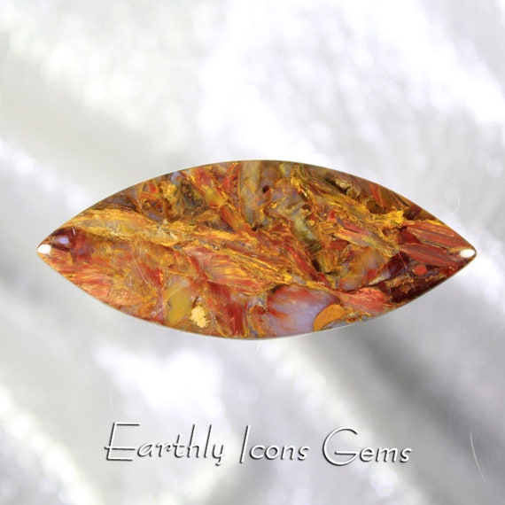 Red and Gold Chinese Pietersite Designer Cut Cabochon