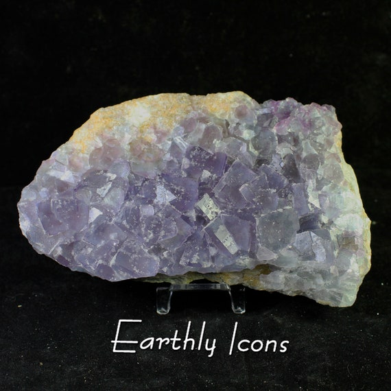 Large Purple Fluorite Cluster Plate (1 kg) Mineral Specimen from Fujian, China