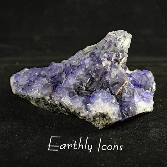 Purple Fluorite Cluster (520g) Specimen from Fujian, China; Raw Mineral Specimen