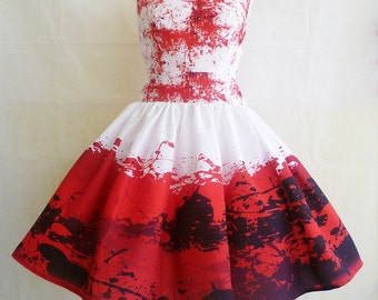 e076fca9d3f7 Blood Splattered Halloween Costume, Special Occassion Dress