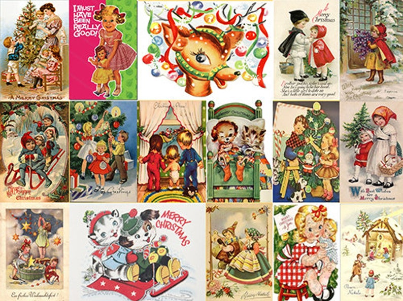 Christmas Skirt Cute Retro Christmas Cards Skirt By Rooby Lane