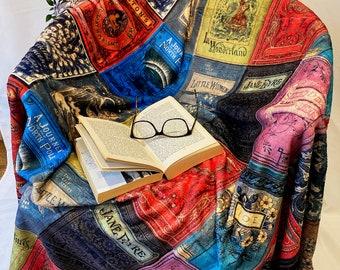 Literary Blanket, Book Covers Blanket, Literary homewares, Bookish blanket
