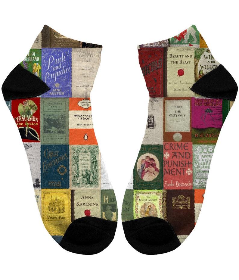 UK, Literary gifts Classic Literature print Women/'s Literary gift,Womens Book cover Socks WomensSocks