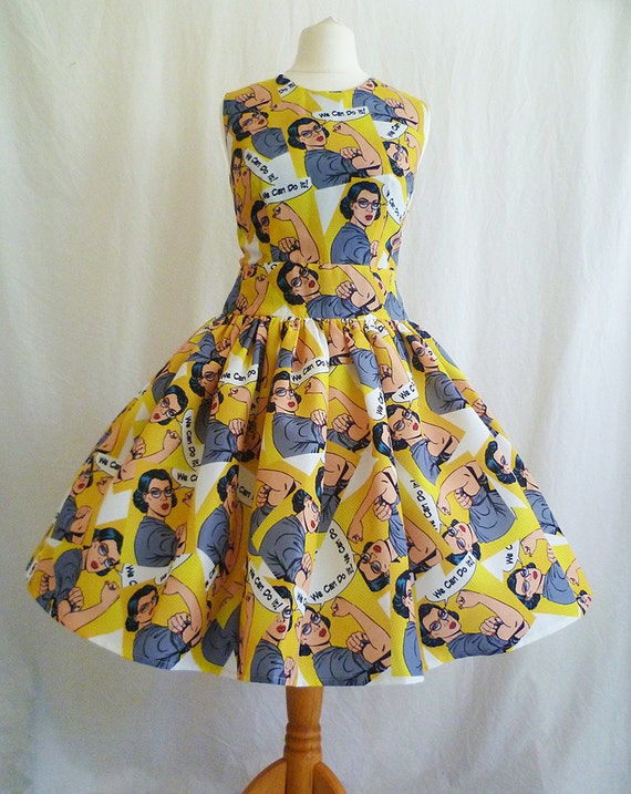 Vintage Prom Kleid feministische Kleidung Kleid 50er Jahre