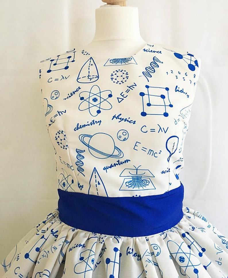 Science Clothes By Rooby Lane Science Dress,Physics Dress Science Print