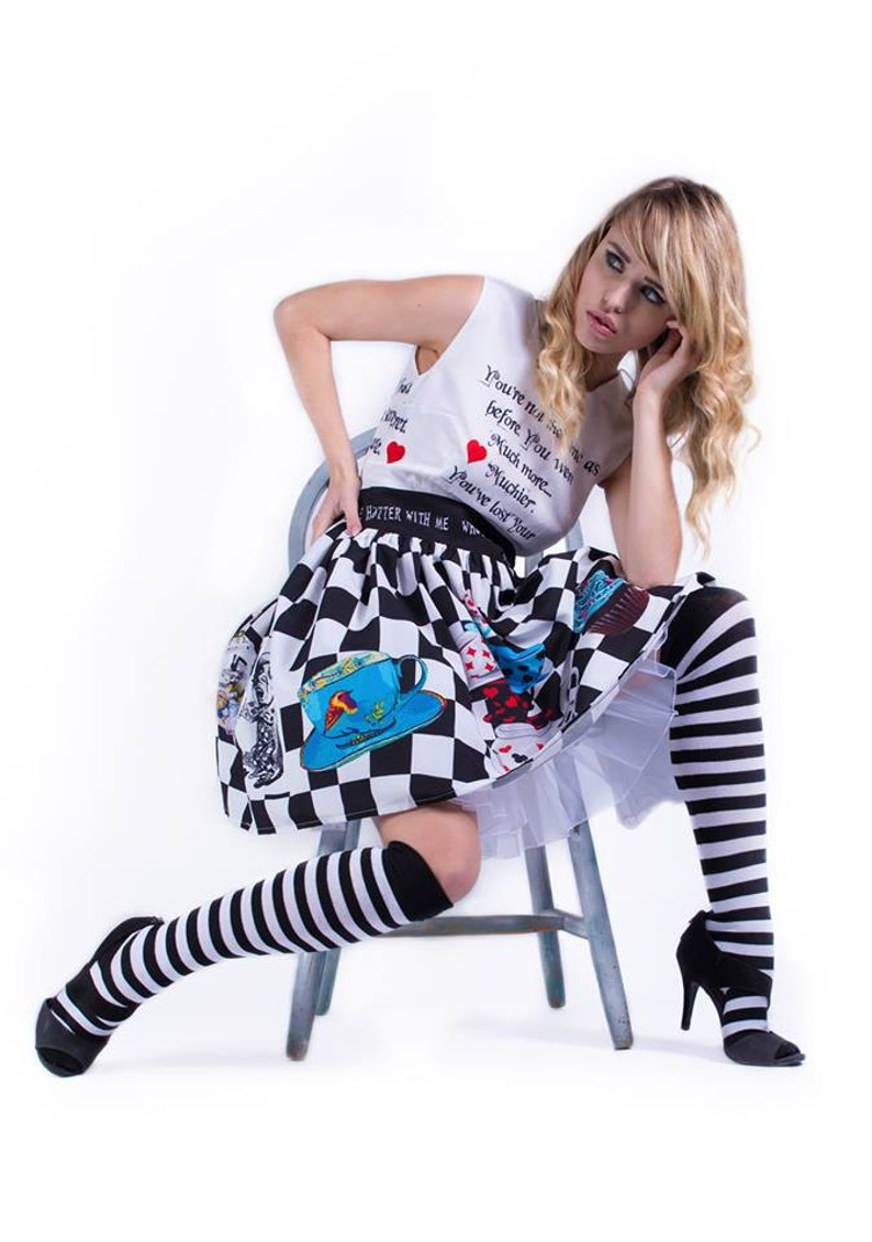 Wedding Dress Special Occasion dress Mad Hatter Dress Prom Dress By Rooby Lane,