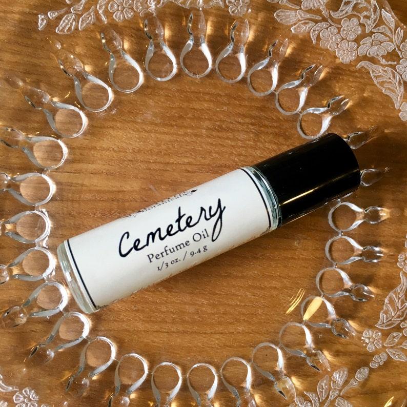 CEMETERY Premium Artisan Perfume Oil  fresh earth cut grass image 0