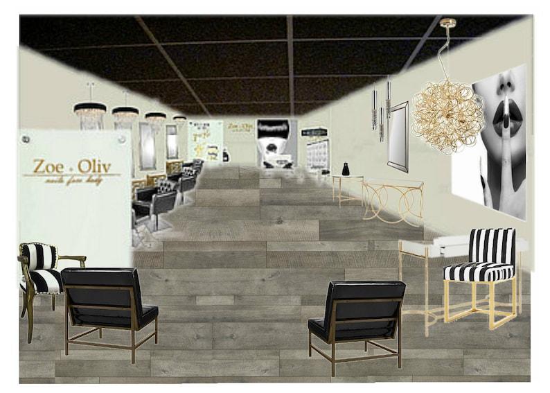 Schoonheidssalon decor interieur design aangepast voor uw etsy