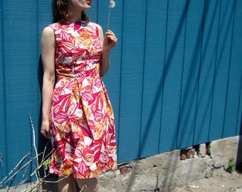 """Sewing Pattern PDF Women's Fit and Flare Sleeveless Boat Neck Dress Bust Sizes 35 - 45"""""""