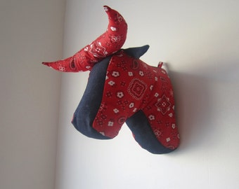 Sewing Pattern Wall Mounted Bull or Cow Head PDF Sewing Pattern